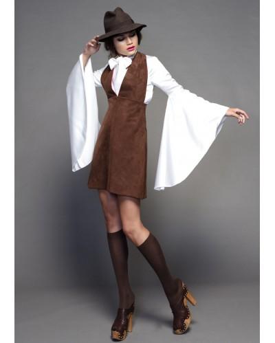 Vestido DOSP COLLECTION Suede Vest Dress